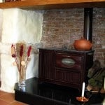Feature fireplace in main house
