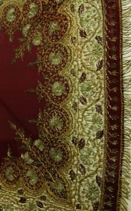 Ottoman embroidery, framed