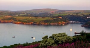 fishguard bay and lower town pembrokeshire evening