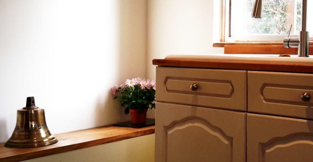 kitchen refurbished with chalk paint