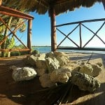 Old palapa at the shore