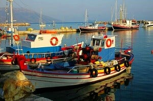 fishing boat samos