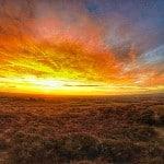 sunrise from plumstone pembrokeshire