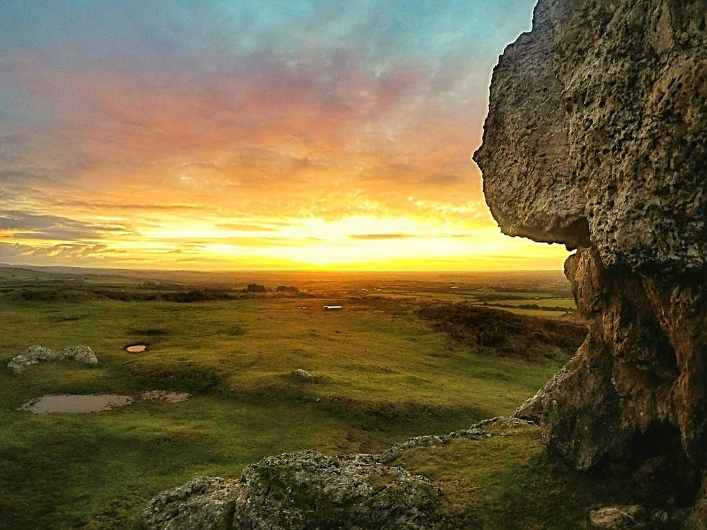 view of moor from plumstone mountain pembrokeshire