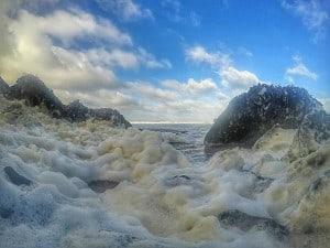 Storm foam wales Pembrokeshire