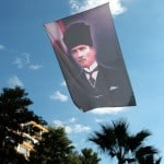 Ataturk flag flying over Aydin on 9th November
