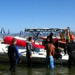 Loading the dive boat