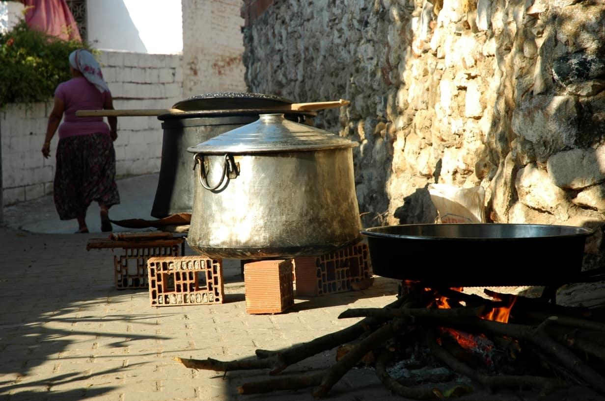Wedding preparations in the village